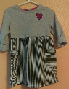 Healthtex heather gray striped dress